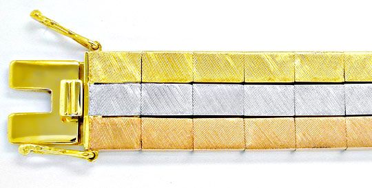 Foto 1, Designer Armband Gelbgold Weissgold Rotgold Luxus! Neu!, K2846
