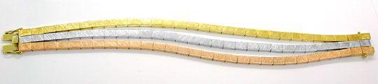 Foto 3, Designer Armband Gelbgold Weissgold Rotgold Luxus! Neu!, K2846