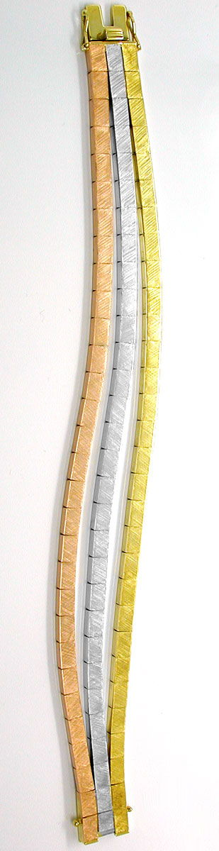 Foto 4, Designer Armband Gelbgold Weissgold Rotgold Luxus! Neu!, K2846