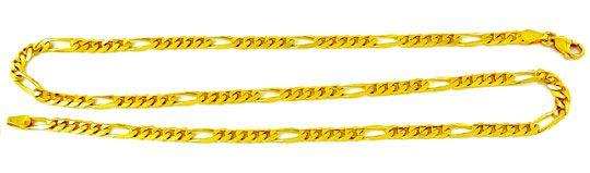 Foto 3, Massive Figaro Goldkette Gelbgold 14K/585 Karabiner Neu, K2855