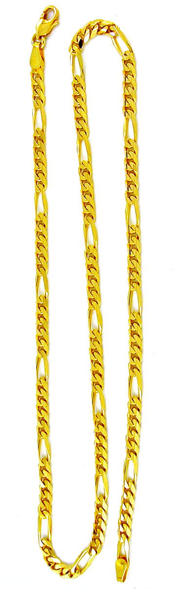 Foto 4, Massive Figaro Goldkette Gelbgold 14K/585 Karabiner Neu, K2855