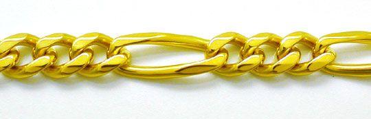 Foto 1, Tolle Figaro Kette, massiv Gelbgold 18K/750, Shop Neu!!, K2858