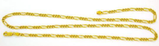Foto 2, Tolle Figaro Kette, massiv Gelbgold 18K/750, Shop Neu!!, K2858