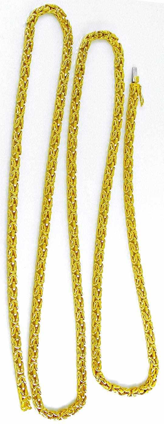 Foto 3, Königskette massiv Gelbgold 18K/750 89Gramm Luxus! Neu!, K2860