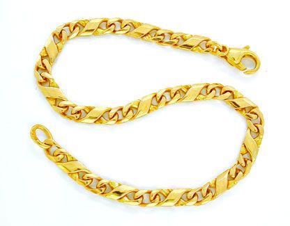 Foto 1, Armband massiv 14K/585 Gelbgold Dollar Design Shop Neu!, K2862