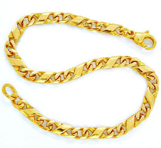 Foto 2, Armband massiv 14K/585 Gelbgold Dollar Design Shop Neu!, K2862