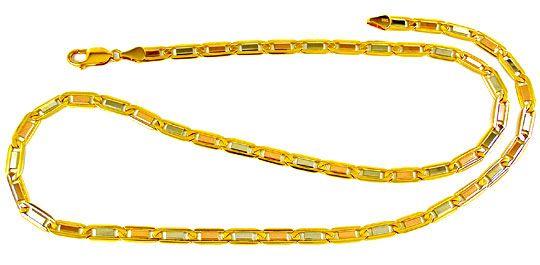 Foto 2, Designer Kette massiv Gelbgold Weissgold Rotgold Luxus!, K2863