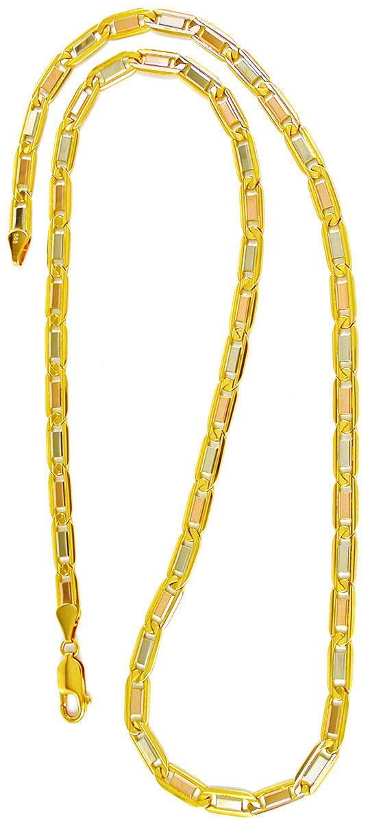 Foto 3, Designer Kette massiv Gelbgold Weissgold Rotgold Luxus!, K2863