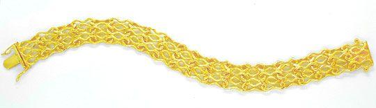 Foto 2, Designer Armband, massiv Gelbgold 14K/585, Luxus! Neu!!, K2865