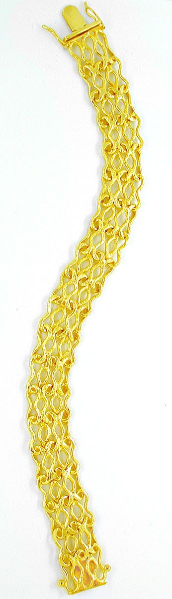 Foto 3, Designer Armband, massiv Gelbgold 14K/585, Luxus! Neu!!, K2865