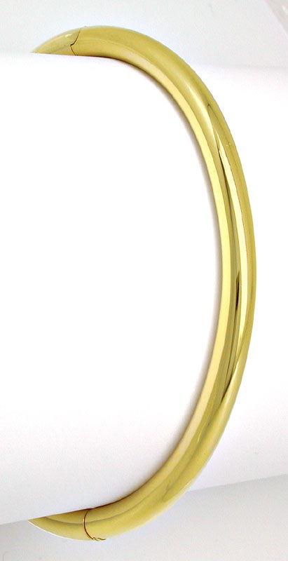 Foto 2, Gelbgold Armreif 14K/585 Verschluss Integriert Shop Neu, K2866
