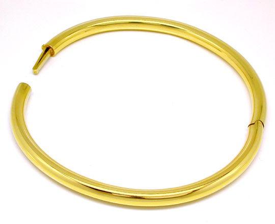 Foto 3, Gelbgold Armreif 14K/585 Verschluss Integriert Shop Neu, K2866