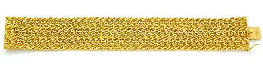 Foto 2, Breites Designer Garibaldi Kordel Armband, 18K Gelbgold, K2867