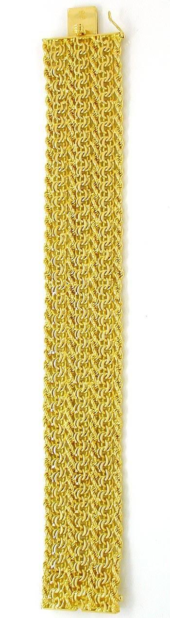 Foto 3, Breites Designer Garibaldi Kordel Armband, 18K Gelbgold, K2867