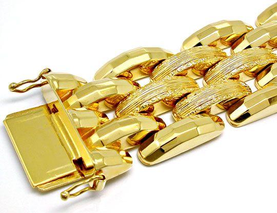 Foto 1, Super dekoratives Gelbgold Armband 18K/750 Luxus! Neuw., K2869