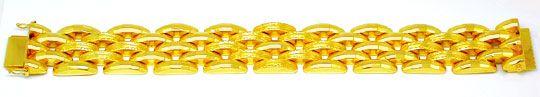 Foto 2, Super dekoratives Gelbgold Armband 18K/750 Luxus! Neuw., K2869