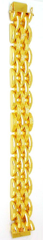 Foto 3, Super dekoratives Gelbgold Armband 18K/750 Luxus! Neuw., K2869