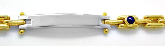 Foto 1, Traum Design Armband massiv Bicolor 18K/750 Luxus! Neu!, K2871