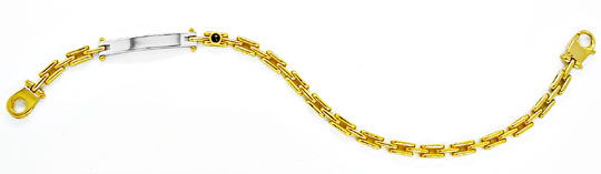 Foto 2, Traum Design Armband massiv Bicolor 18K/750 Luxus! Neu!, K2871
