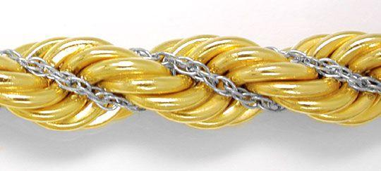 Foto 1, Top Kordel Kette Gelbgold Weissgold 14K/585 Luxus! Neu!, K2875