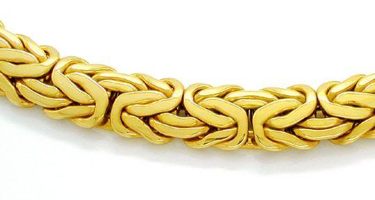 Foto 1, Königskette Gelbgold, Kastenverschluss, 14K Luxus! Neu!, K2880