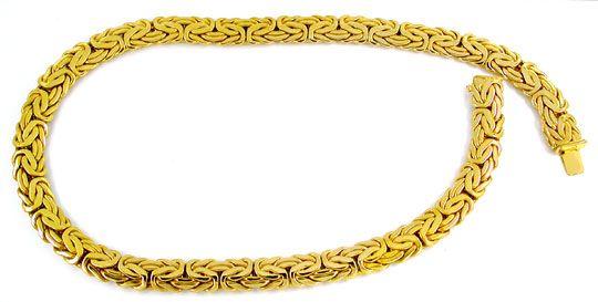 Foto 2, Königskette Gelbgold, Kastenverschluss, 14K Luxus! Neu!, K2880