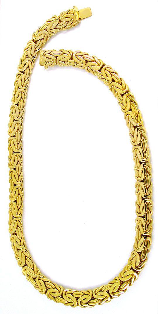 Foto 3, Königskette Gelbgold, Kastenverschluss, 14K Luxus! Neu!, K2880