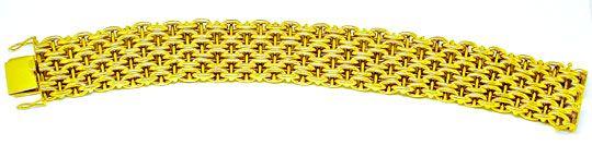 Foto 2, Gelbgold Armband, seltene 1A Designer Arbeit Luxus! Neu, K2881