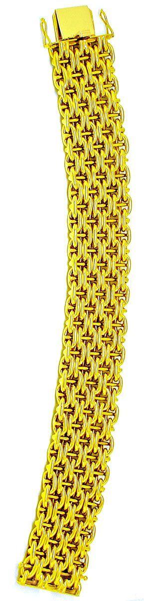 Foto 3, Gelbgold Armband, seltene 1A Designer Arbeit Luxus! Neu, K2881
