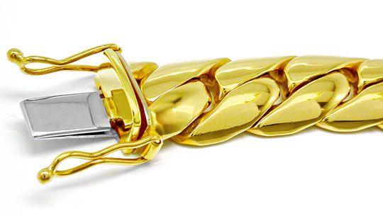 Foto 1, Gewölbtes Gelbgold Panzer Armband 14K massiv Luxus! Neu, K2882