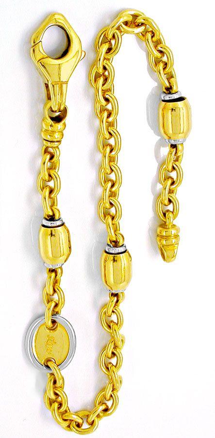 Foto 2, 1A Designer Gelbgold Weissgold Armband 18K/750 Shop Neu, K2883