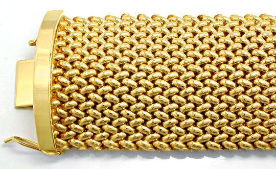 Foto 1, Gelbgold Armband, Klassisches Topdesign 18K Luxus! Neu!, K2884