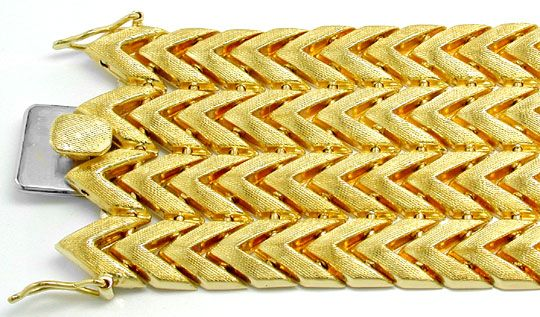 Foto 1, Designer Gelbgold Armband Top Gravur 18K/750 Luxus! Neu, K2885