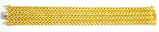 Foto 2, Designer Gelbgold Armband Top Gravur 18K/750 Luxus! Neu, K2885