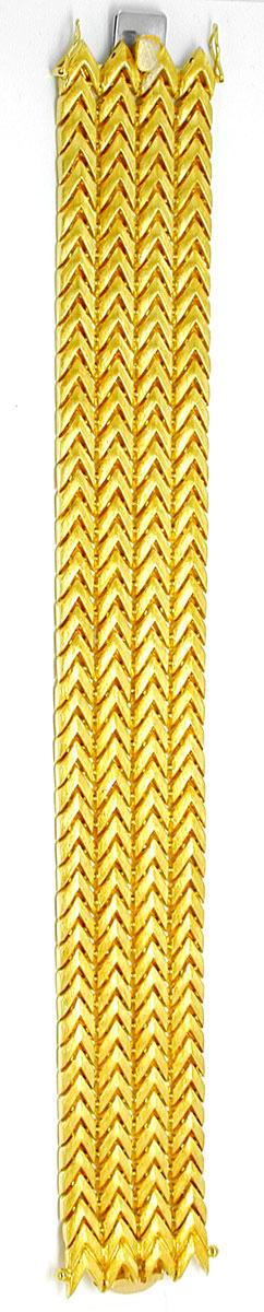 Foto 3, Designer Gelbgold Armband Top Gravur 18K/750 Luxus! Neu, K2885