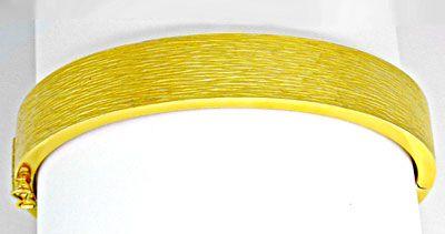 Foto 1, 1A Armreif Gelbgold, schönes Muster 14K/585 Luxus! Neu!, K2889