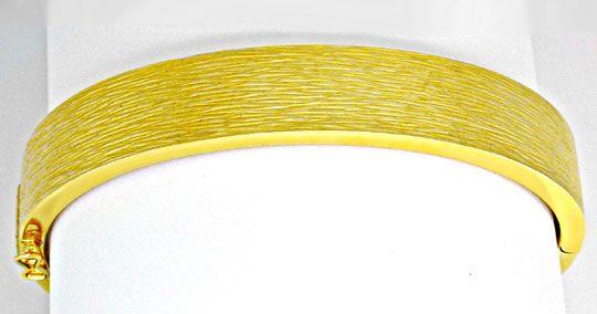 Foto 2, 1A Armreif Gelbgold, schönes Muster 14K/585 Luxus! Neu!, K2889