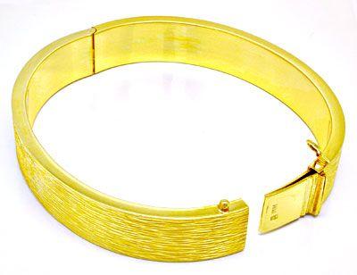 Foto 3, 1A Armreif Gelbgold, schönes Muster 14K/585 Luxus! Neu!, K2889