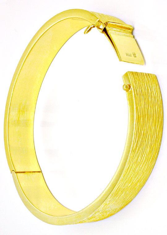 Foto 4, 1A Armreif Gelbgold, schönes Muster 14K/585 Luxus! Neu!, K2889