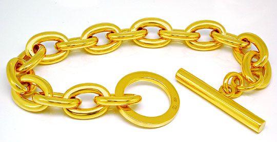 Foto 1, Designer Armband, Knebel Verschluss 14K/585 Luxus! Neu!, K2890