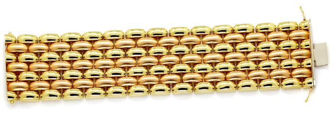 Foto 1, Luxuriöses breites Armband Gelbgold und Rotgold 14K/585, K2891