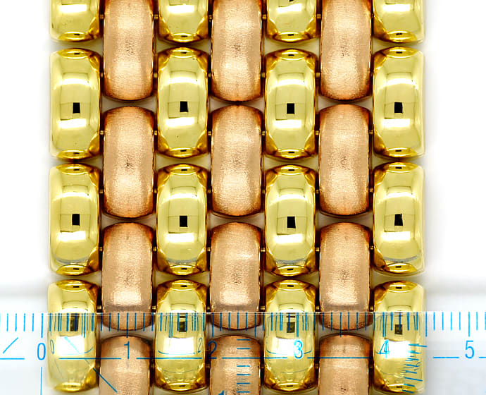 Foto 2, Luxuriöses breites Armband Gelbgold und Rotgold 14K/585, K2891