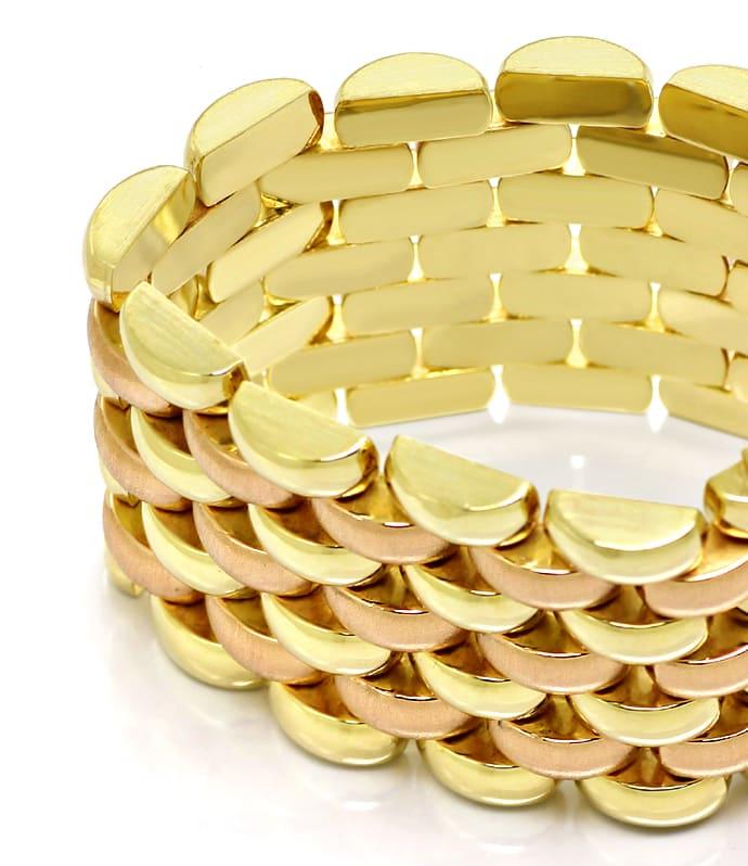 Foto 3, Luxuriöses breites Armband Gelbgold und Rotgold 14K/585, K2891