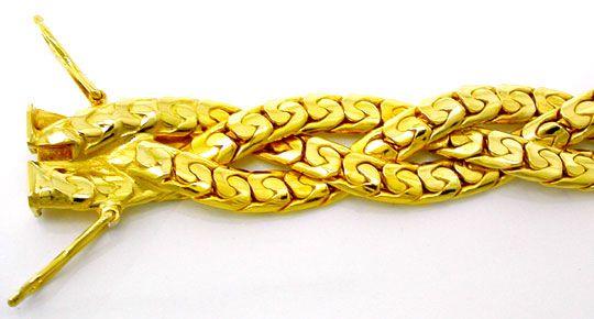 Foto 1, Kollier massiv Gelbgold 18K Kastenverschluss Luxus! Neu, K2894