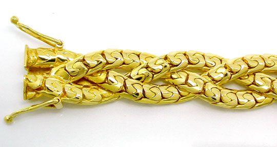 Foto 1, Armband massiv Gelbgold 18K Kastenverschluss Luxus! Neu, K2895