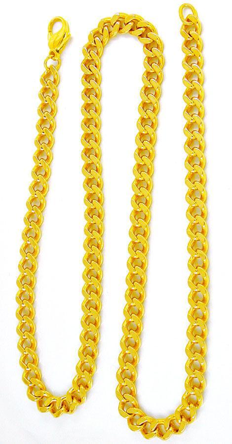 Foto 3, Flachpanzer Kette, massiv Gelbgold 14K/585, Luxus! Neu!, K2896