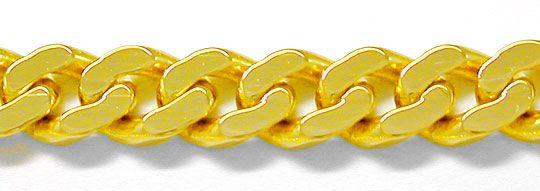 Foto 1, Top Flachpanzer Kette massiv Gelbgold 14K/585 Shop Neu!, K2899