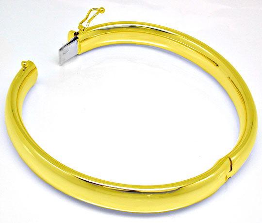 Foto 3, Gelbgold Armreif Top Kastenverschluss 14K/585 Shop Neu!, K2900