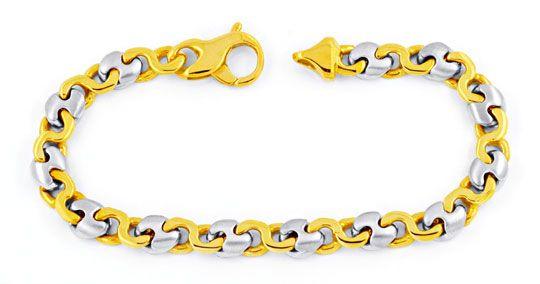 Foto 1, Designer Gelbgold Weissgold Armband 14K/585 Luxus! Neu!, K2901