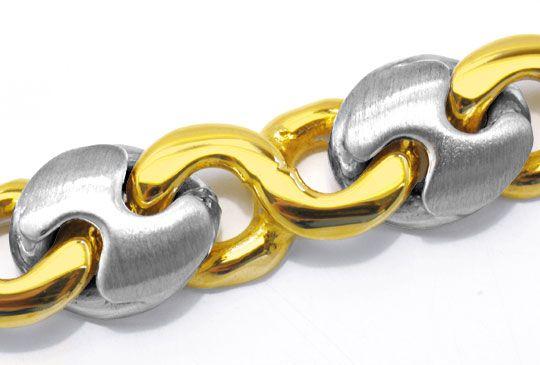 Foto 2, Designer Gelbgold Weissgold Armband 14K/585 Luxus! Neu!, K2901